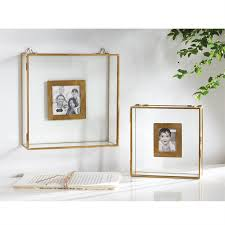 glass shadowbox picture frame set