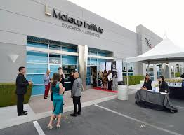 the exterior of the l makeup insute is shown during a grand opening at 5525 s