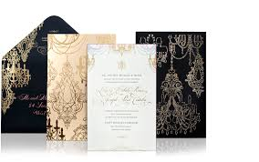 laser cut chandelier wedding invitation suite