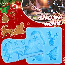 3D <b>Christmas New Year</b> House <b>Silicone</b> Fondant Mould Baking ...