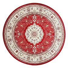 classic western area rugs prayer round carpet red circle flower print country rustic rug small circular