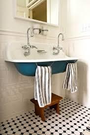 vintage sink small farmhouse bathroom