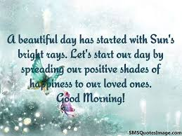 Quote About A Beautiful Day Best of A Beautiful Day Has Started With Good Morning SMS Quotes Image