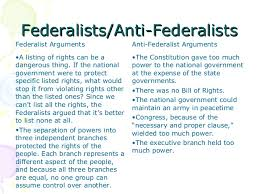 federalists vs republicans federalists anti federalistsfederalists anti federalists