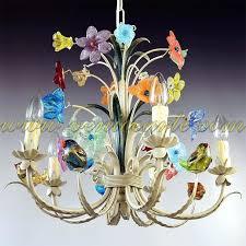 chandeliers murano glass chandelier birds black for