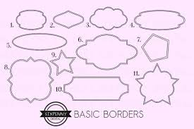 Labels With Border Border Clipart Printable Label Frames Label Clipart Label Borders Black Digital Labels Black Border Labels Border Tags Clipart