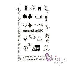 Nalepovací Tetování Znaky A Nápisy