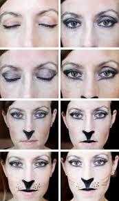 easy cat makeup tutorial for a last minute costume