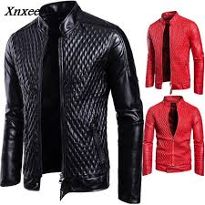 new winter men s leather jacket coat classic leather motorcycle jacket leisure clothing plus velvet stand collar xnxee