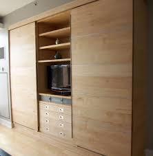 Custom Made Modern Wall Unit Of Maple