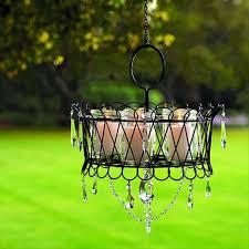 outdoor candle chandelier diy