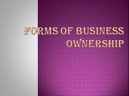 types of business ownerships forms of business ownership authorstream