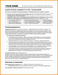 Lovely Resume Substitute Teacher Duties Gallery Example Resume And