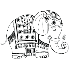 free coloring pages elephants girl page elephant pin elep