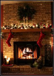 Christmas Mantel Decorating Ideas For Brick Fireplace