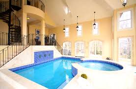 Extraordinary Inside Big Houses Has Lovely Indoor Swimming Pools And