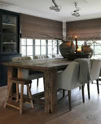 incredible rustic dining table and chairs 25