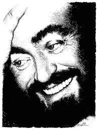 Resultado de imagen de pavarotti caricatura