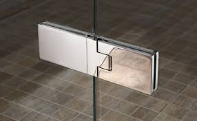 image of polished shower door hinges