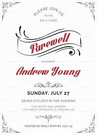 Elegant Farewell Party Invitation Template
