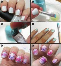 paint splatter nail art tutorial simple nail design for short nails pinit