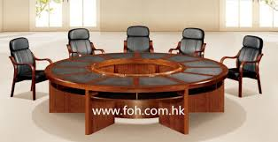 contemporary office wooden large round conference table room classic office furniture fohsc3006 with tables
