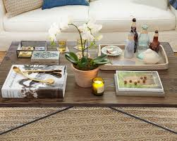 Decorative Trays For Living Room How To Accessorize A Round Coffee Table Decorative Trays For Coffee 62