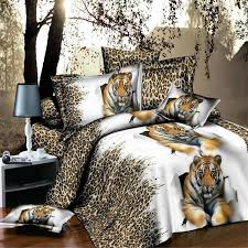 4pcs 3d bed set home textile bedding sets animal soft cotton leopard wolf tiger lion duvet cover bed sheet pillowcase bed linen in bedding sets from home