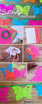 Make Butterfly Papel Picado video: Decor and class craft activities for Dia  de los Muertos and Cinco de Mayo!