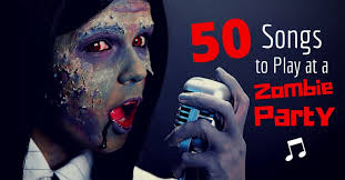 feature image of a woman in zombie makeup singing into an old fashioned microphone
