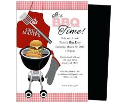 Barbeque Invitation Bbq Party Invitation Template Free General Birthday Templates