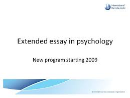 extended essay in psychology ppt video online  extended essay in psychology