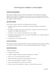 Volunteer Coordinator Job Description Sample