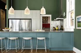 green wall color in a small kitchen