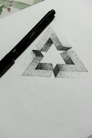 Penrose Dotwork Triangle Tat Sketches Abstrakt Tattoo