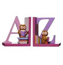 grlands road kids bookends pink with a z