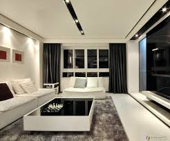 black white living room. Adjusting Drapes For Living Rooms With Certain Themes : Foxy Image Of Black White Room