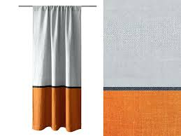 interesting rust color curtains curtain block linen window dry panel unlined or blackout lined grey and