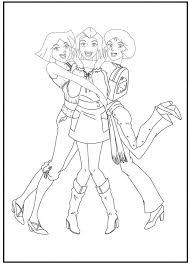 Coloring Pages Totally Spies
