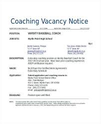 Resume For Sports Coach Athletic Coach Cover Letter Sample Coaching