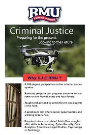 criminal justice robert morris university cjposter