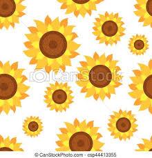 Sunflower Pattern Custom Seamless Sunflower Pattern Vector Seamless Pattern With Sunflowers