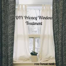 simple bedroom window treatments. Exellent Treatments Simple Privacy Window Treatment Intended Simple Bedroom Window Treatments The Row House Nest