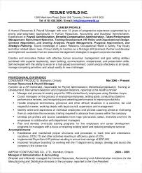 Hr Manager Resume Format 54 Manager Resumes In Pdf Free Premium Templates