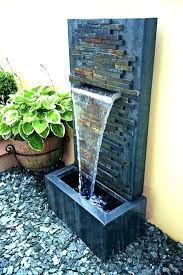 wall waterfall fountains outdoor wall water fountain for home easy large outdoor wall water fountains modern