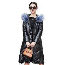 lady genuine sheepskin leather suede coat jacket fox fur hoody autumn winter women warm outerwear coats