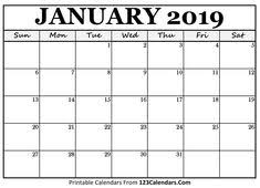 Free Calender Templates 13 Best Free January 2019 Calendar Printable Images