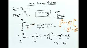 Work Energy Theorem Variable Force