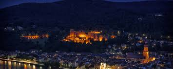 heidelberg night lights buildings usa downtown offices storehouses stores wallpaper