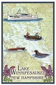 Details About Lake Winnipesaukee New Hampshire Nautical Chart Boat Nh Modern Map Postcard